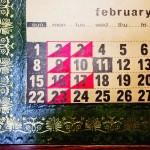 2月のショップスケジュールです。