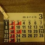 3月のショップスケジュール