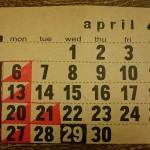 4月のショップスケジュール
