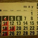 5月のショップスケジュール