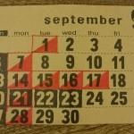 9月のショップスケジュール