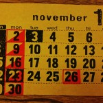 11月のショップスケジュール
